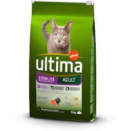 paquet de croquettes saumon ultima pour chat adulte sterilise