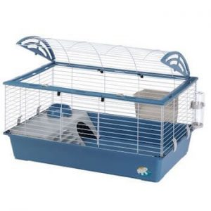 cage à lapin nain ou hamster bleue
