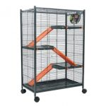 Cage chinchilla Zolux en noir et orange